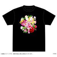 魔法少女くるみ プリマピンク フラワーTシャツ 黒