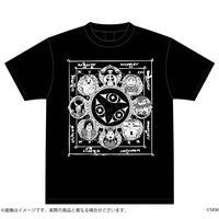魔法少女くるみ 暗黒ホエールズ曼荼羅Tシャツ 黒